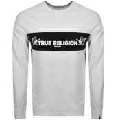 True Religion Long Sleeved Logo T Shirt White